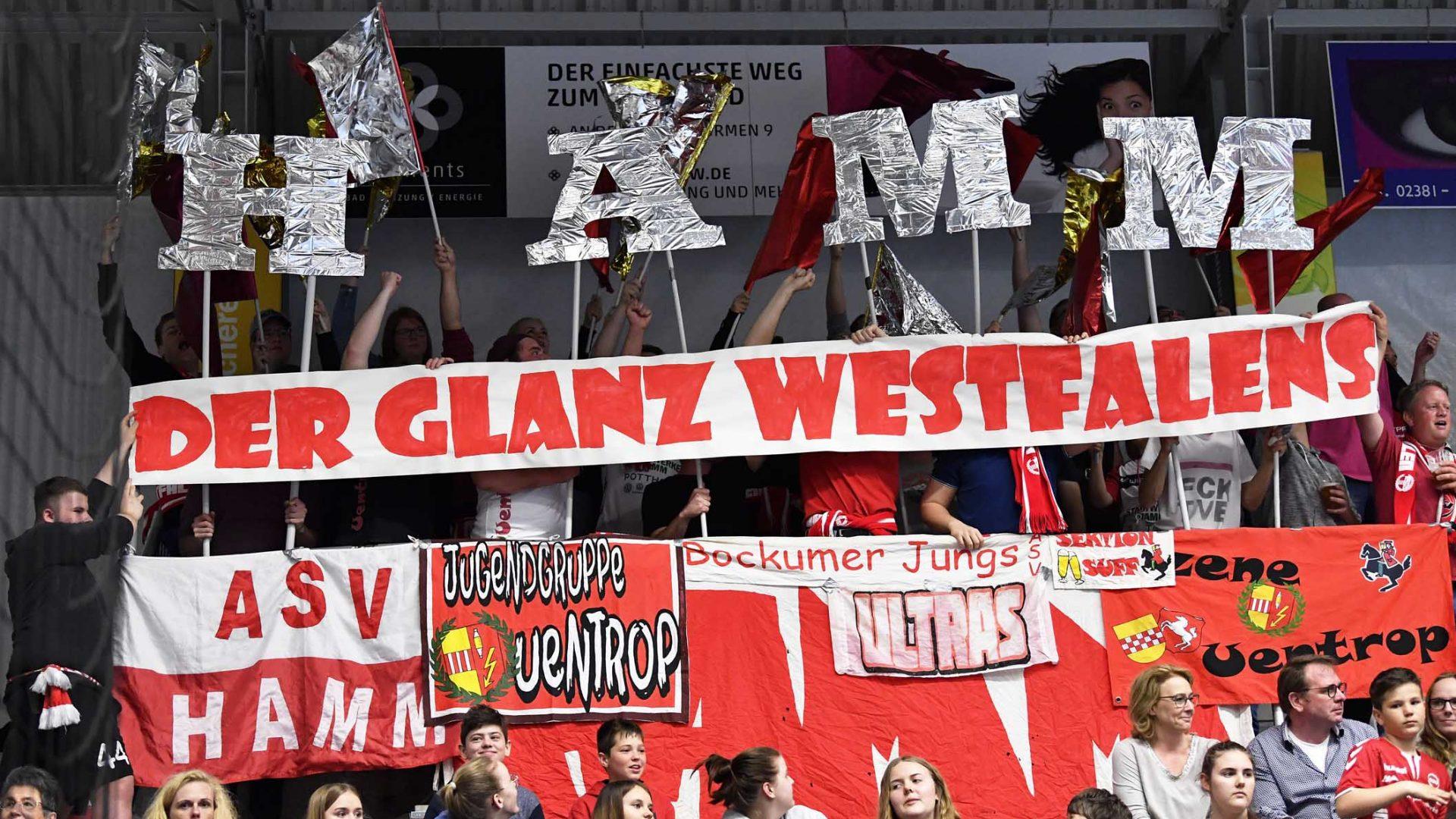 Handball Bundesliga Hamm Emsdetten; Fans;Transparent;