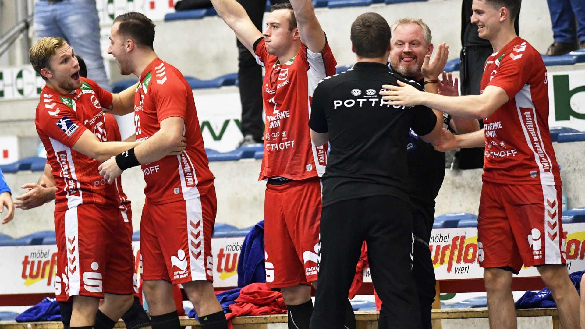 Handball Bundesliga ASV Hamm Gummersbach;Jubel Bank